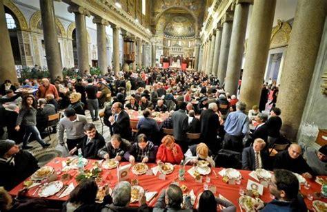 tavola imbandita per natale sant egidio a natale tavola imbandita per 200mila poveri