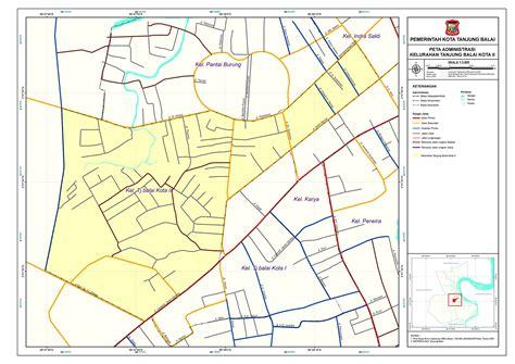 peta kelurahan kecamatan tanjungbalai selatan