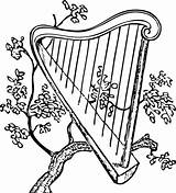Harp Coloring Pages Kelly Class sketch template