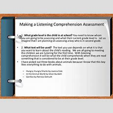 Listening Comprehension Assessment How To Make