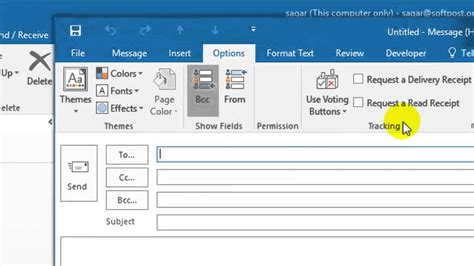 how to create a read receipt in outlook how to get a read receipt in outlook youtube