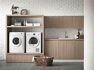 Schrank Für Abstellraum : waschk che schrank aus ulme f r waschmaschine idrobox ~ Michelbontemps.com Haus und Dekorationen