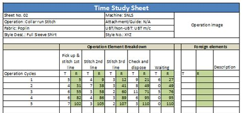 time study how to do time study for garment operations