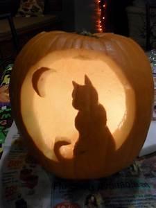 Cat, Pumpkin, Carving, Template