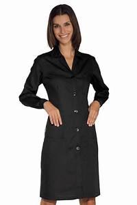 Cote De Travail Femme : blouse de travail femme manches longues noire ~ Dailycaller-alerts.com Idées de Décoration