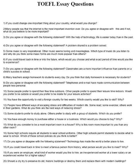 toefl writing template toefl essay questions pdf