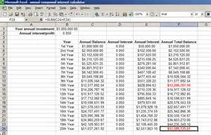 Compound Interest Formula Excel Spreadsheet