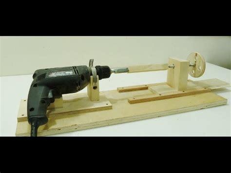 transform  power drill   miniature wood lathe