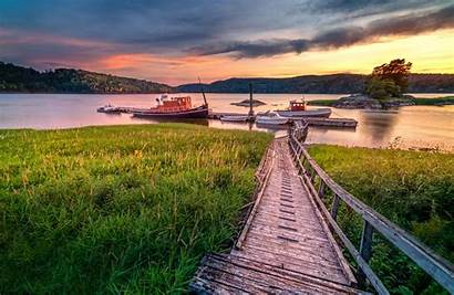 River Wallpapers Dock Norway Glomma Backiee