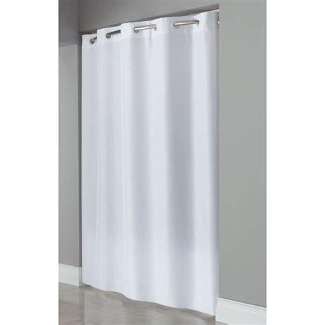 Plain White Shower Curtain - hookless shower curtains plain white