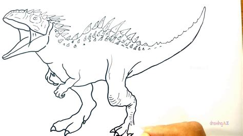 Coloring Jurassic World by Jurassic World Coloring Pages Indominus Rex