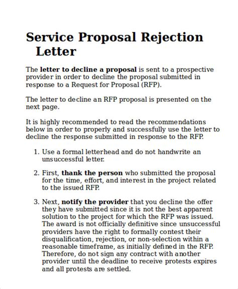 sample service proposal letter  examples  word