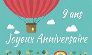 Carte Anniversaire Fille 9 Ans : carte anniversaire enfant 9 ans deux filles ~ Melissatoandfro.com Idées de Décoration