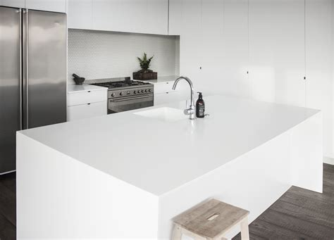 corian company glacier white corian solid surface enhances family kitchen