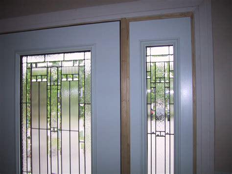 frosted fiberglass exterior glass doors insert  wooden