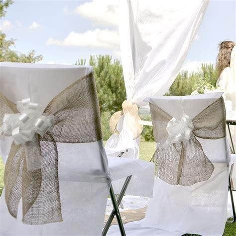 noeud de la chaise décorez vos chaises de noeuds de chaise toile de jute