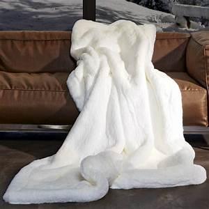 Plaid Noir Et Blanc : plaid en fausse fourrure fourrure synth tique imitation ~ Dailycaller-alerts.com Idées de Décoration