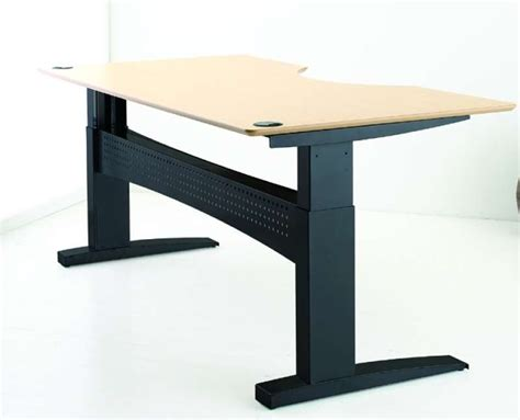 adjustable desks for standing or sitting uk conset 501 11 sit stand desk free delivery uk conset