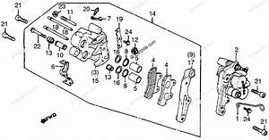 Honda Motorcycle 1982 Oem Parts Diagram For Front Brake