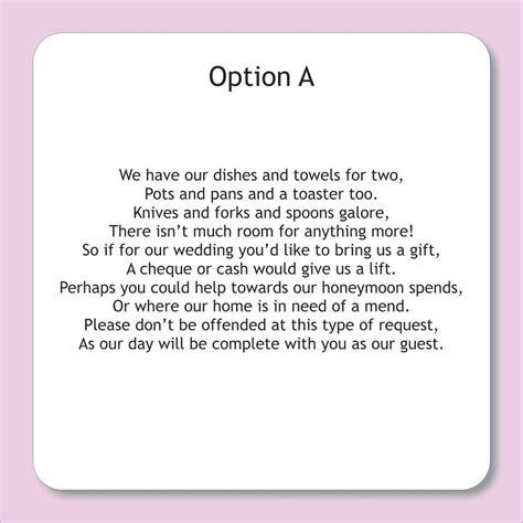 wording  wedding invitations   money google