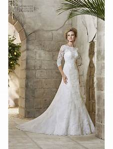 mori lee 2776 allover ivory lace wedding gown with sleeves With ivory lace sleeve wedding dress