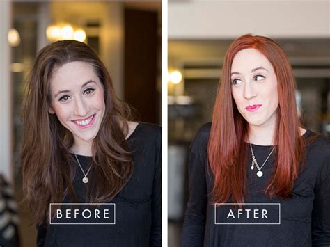 At-home Hair Color Makeover! From Brunette To Bold Red