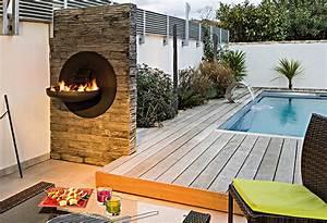 Brasero De Terrasse : chemin e d 39 ext rieure barbecue bras ro ~ Premium-room.com Idées de Décoration