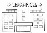 Hospital Coloring Modern Coloringpagesfortoddlers Disimpan Dari sketch template