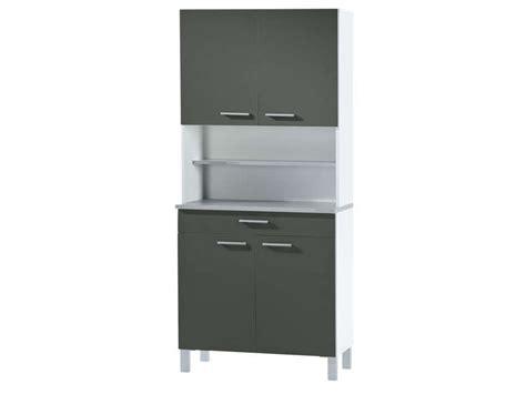 buffet de cuisine gris buffet de cuisine l 80 cm debora coloris gris blanc
