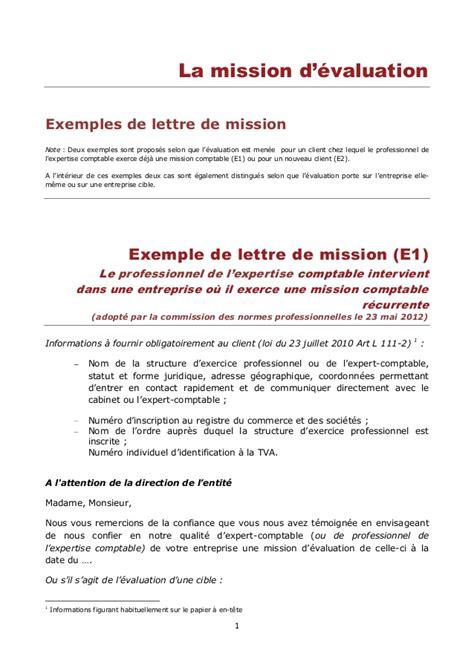 lettre de mission de l expert comptable