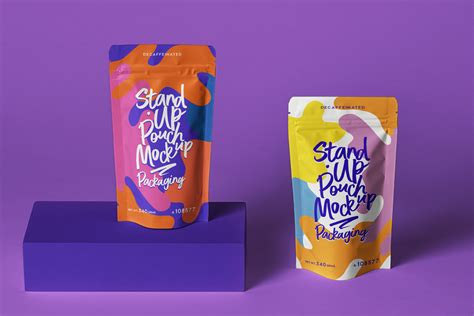 Free for personal and commercial use zip file includes. Psd Stand Up Pouch Packaging Mockup | Psd Mock Up ...
