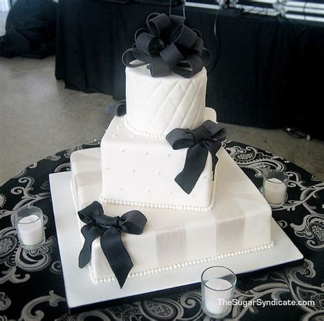 black  white wedding cakes gallery