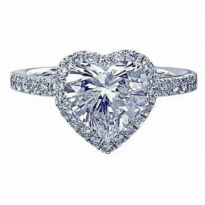 leon mege platinum engagement ring with a heart shaped With heart wedding ring
