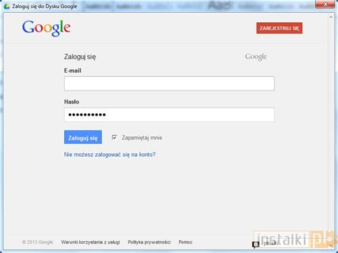 logowanie do gmaila