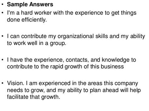 What Skills Would You Bring To The by What Can You Contribute To This Company Answer
