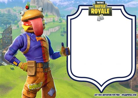 printable fortnite birthday invitation templates