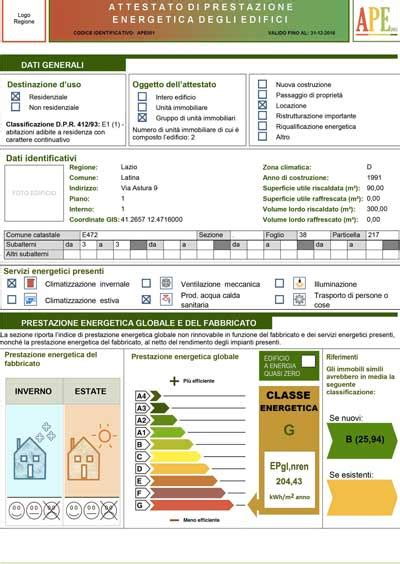 Ape Capannone Industriale by Certificazione Energetica Ape Attestato Prestazione Energetica