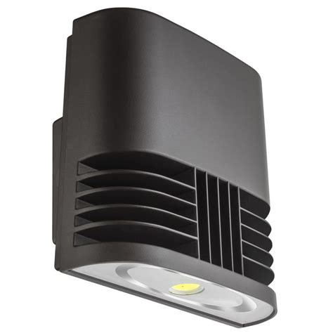 lithonia lighting bronze 13 watt low profile led wall