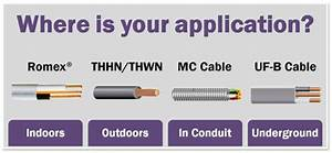 Romex Cable, Romex® NM-B, Indoor Electrical Wire With Ground