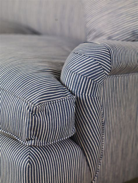Blue Stripe Roll Arm Furnishings Pinterest Patterned