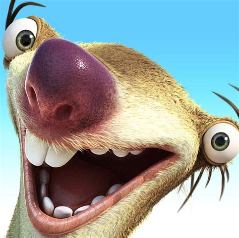 Sid Ice Age Adventures Sloth Manfred Scrat Png Clipart