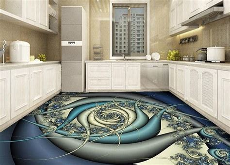 kitchen floor paint realistic 3d flooring murals and 3d epoxy floor painting 5618