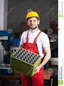 Factory Worker During Work Royalty Free Stock Images