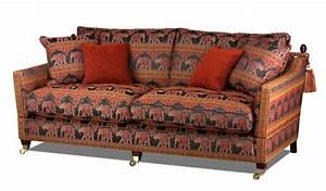 Sofa Im Kolonialstil : knole kolonialstilsofa mit indischen elefanten ~ Orissabook.com Haus und Dekorationen