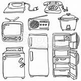 Coloring Appliances Household Appliance Furniture sketch template