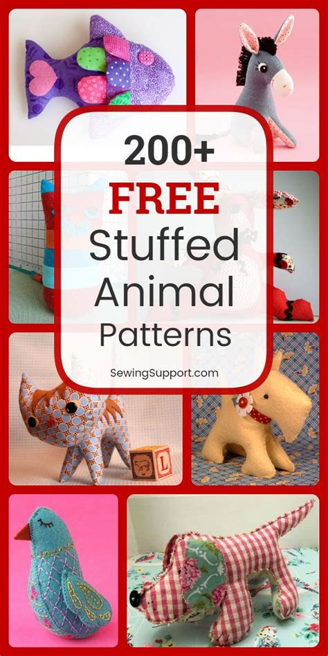 stuffed animal patterns diy sewing projects