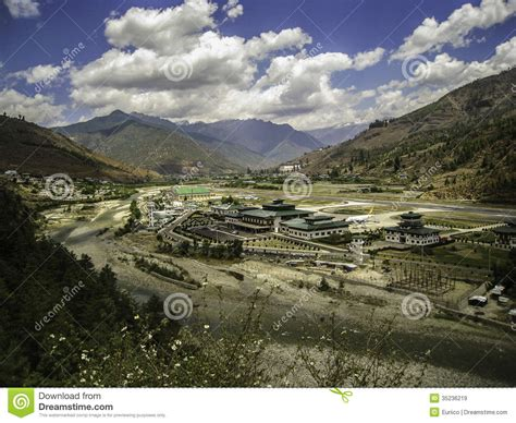 Paro Airport  Bhutan Editorial Stock Image Image Of Town