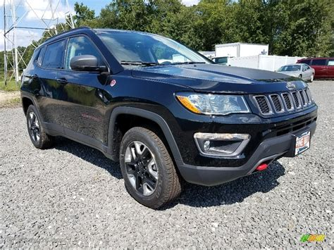 jeep compass 2018 black 2018 black crystal pearl jeep compass trailhawk