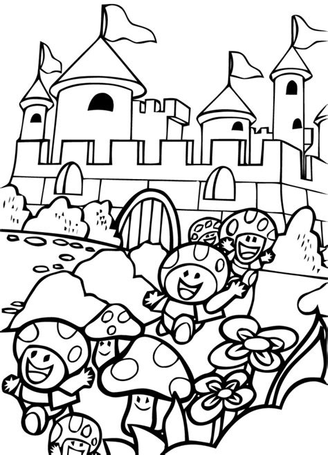 Giga Bowser Kleurplaten by Coloriage Mario Bros Les Chignons S Enfuient