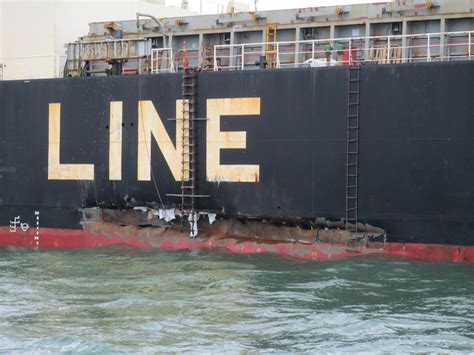 Big Boat Collisions by Coast Guard Investigating Collision On Houston Ship